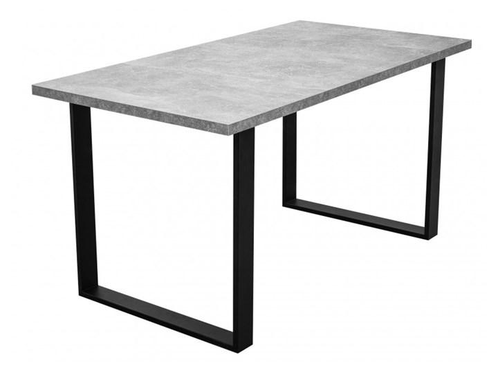 Stół z Metalowymi Nogami LOFT 150x80 Długość 150 cm  Wysokość 76 cm Tworzywo sztuczne Stal Drewno Szerokość 80 cm Kolor Szary