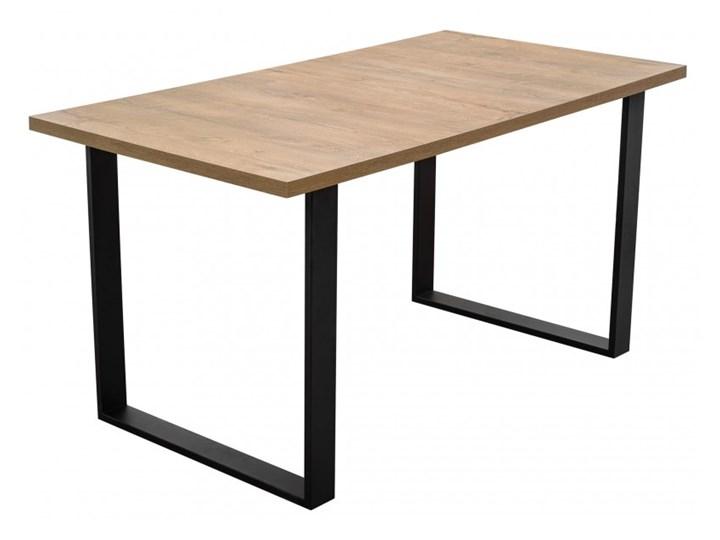 Stół z Metalowymi Nogami LOFT 150x80 Stal Wysokość 76 cm Kształt blatu Prostokątny Długość 150 cm  Drewno Szerokość 80 cm Tworzywo sztuczne Rozkładanie