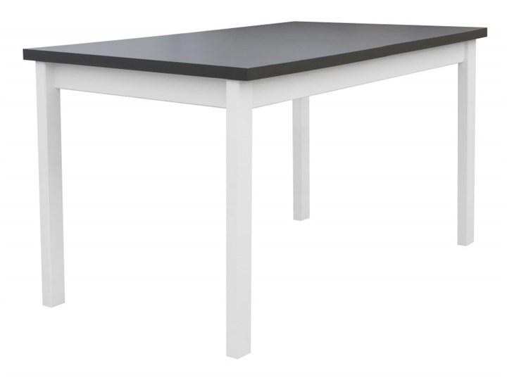 Stół Rozkładany + 6 Krzeseł do Kuchni 180/140x80 Grafit Kolor Szary