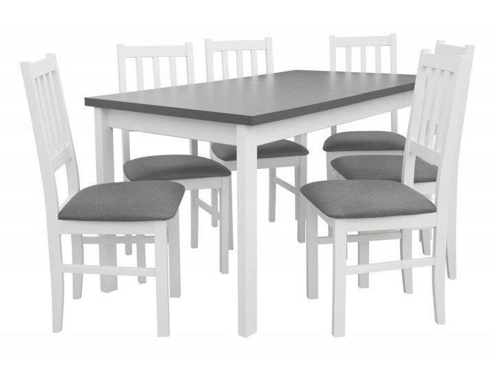 Stół Rozkładany + 6 Krzeseł do Kuchni 180/140x80 Grafit Kategoria Stoły z krzesłami