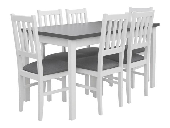 Stół Rozkładany + 6 Krzeseł do Kuchni 180/140x80 Grafit