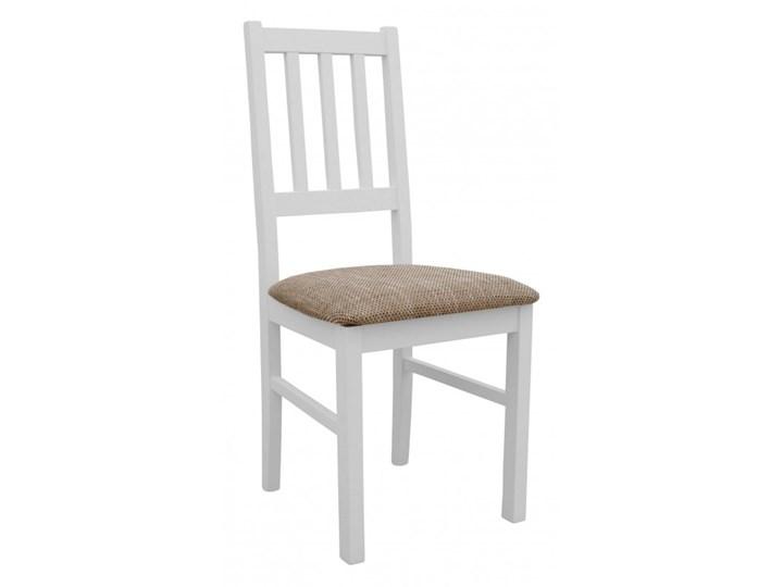 Stół Rozkładany + 6 Krzeseł do Kuchni 180/140x80 Brąz Kolor Biały Kategoria Stoły z krzesłami