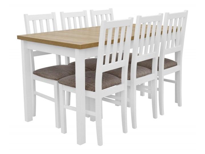 Stół Rozkładany + 6 Krzeseł do Kuchni 180/140x80 Brąz Kategoria Stoły z krzesłami Kolor Biały