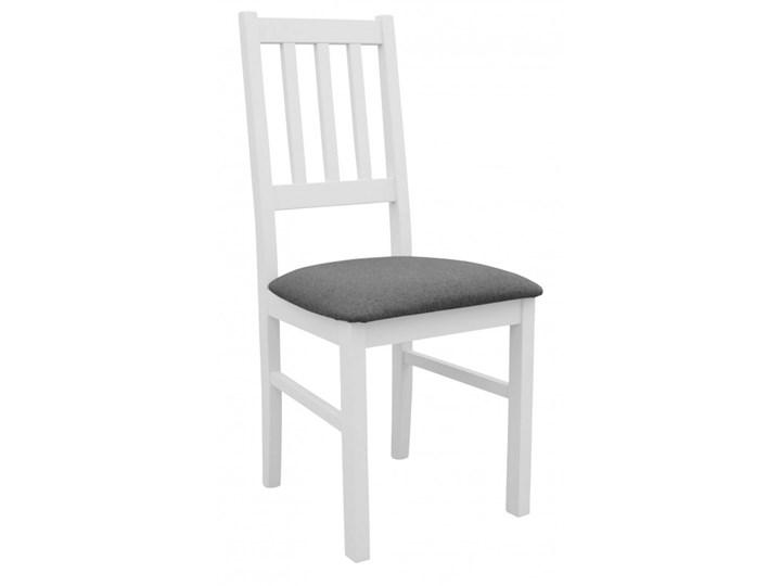Stół Rozkładany + 6 Krzeseł do Kuchni 150/120x80 Grafit Kolor Biały Kategoria Stoły z krzesłami