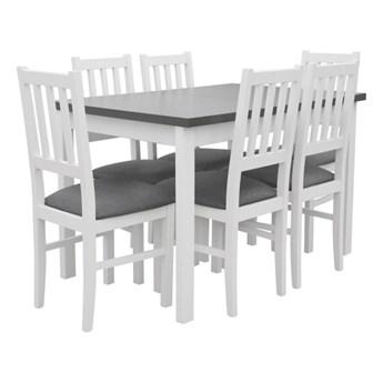 Stół Rozkładany + 6 Krzeseł do Kuchni 150/120x80 Grafit