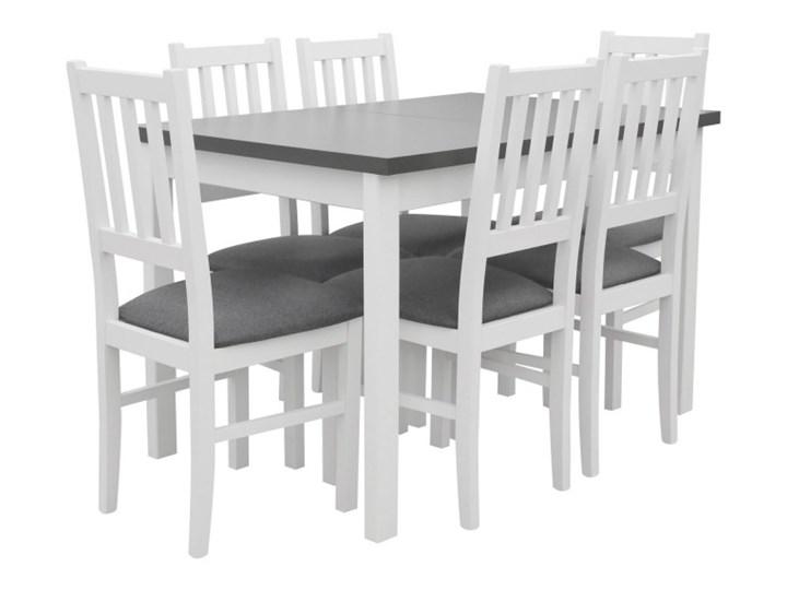 Stół Rozkładany + 6 Krzeseł do Kuchni 150/120x80 Grafit Kategoria Stoły z krzesłami