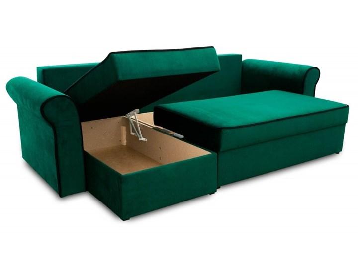 Narożnik z Funkcją Spania Trevor Królewska Zieleń W kształcie L Boki Z bokami Kolor Zielony