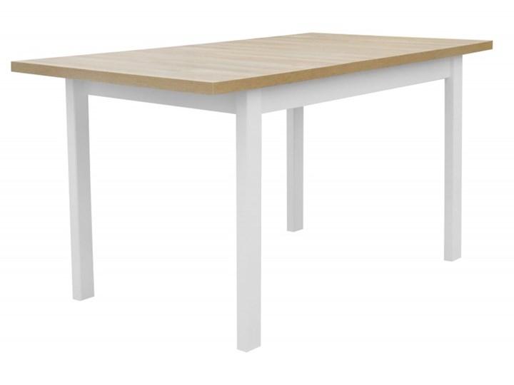 Stół Rozkładany + 4 Krzesła do Kuchni 150/120x80 Brąz Kolor Beżowy