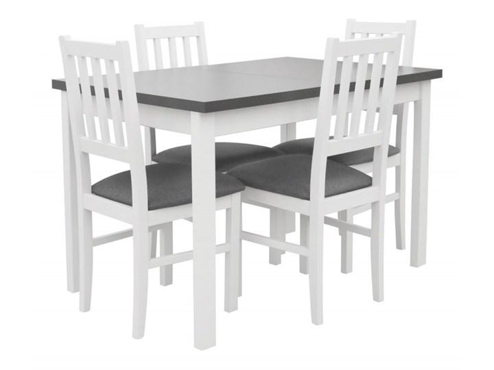 Stół Rozkładany + 4 Krzesła do Kuchni 150/120x80 Grafit