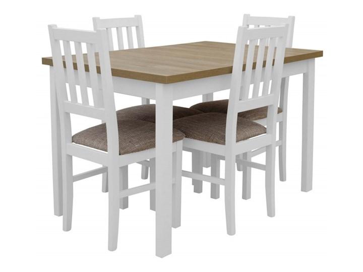 Stół Rozkładany + 4 Krzesła do Kuchni 150/120x80 Brąz