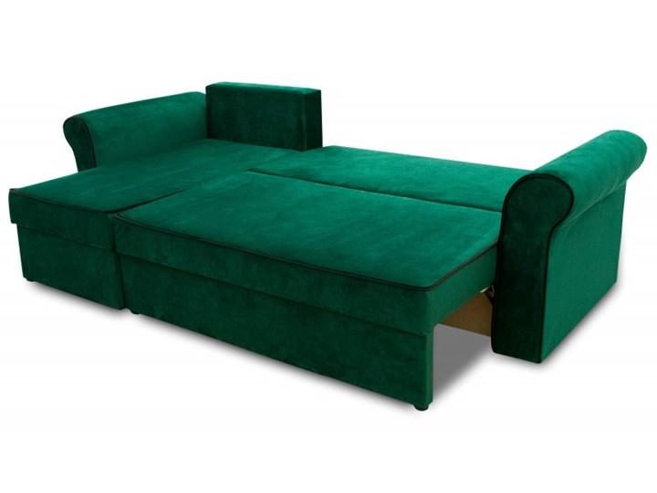 Narożnik z Funkcją Spania Trevor Królewska Zieleń W kształcie L Rozkładanie Rozkładany Kolor Zielony