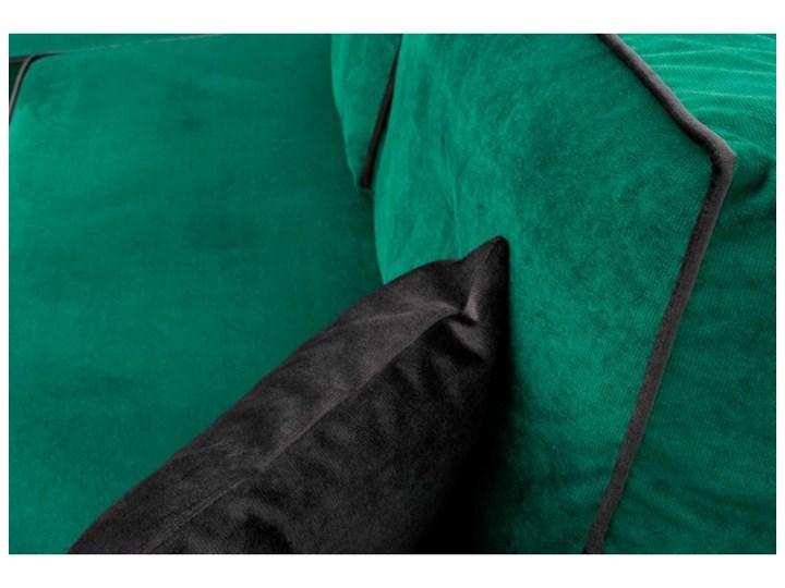 Narożnik z Funkcją Spania Trevor Królewska Zieleń Typ Gładkie W kształcie L Styl Nowoczesny