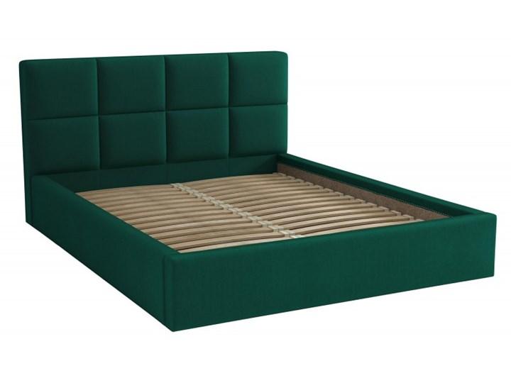 Łóżko Tapicerowane Alaska 140x200 Królewska Zieleń Tkanina Kronos
