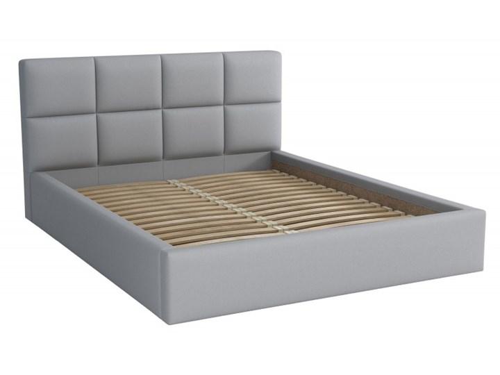 Łóżko Tapicerowane Alaska 140x200 Szary Tkanina Cayene