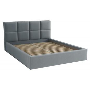 Łóżko Tapicerowane Alaska 140x200 Szary Tkanina Trinity
