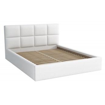 Łóżko Tapicerowane Alaska 160x200 Biały Tkanina Cayene