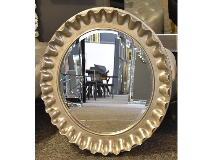 Srebrne lustro PU 360S 60cmx60cm outlet Lustro z ramą Ścienne Okrągłe Kolor Srebrny