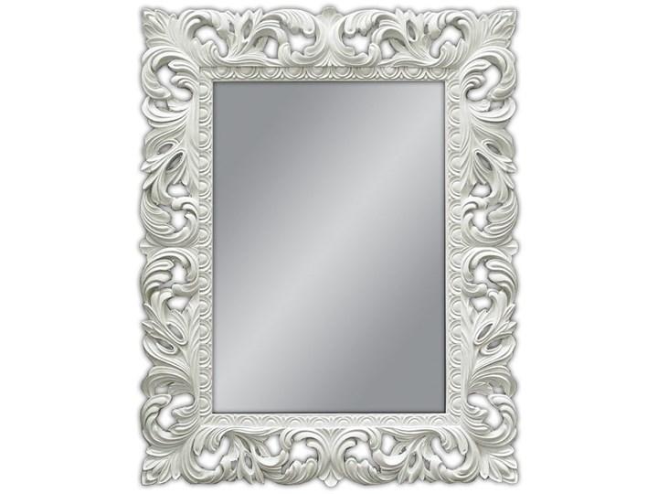 LUSTRO PU-058 80x100cm BIAŁE outlet Styl Glamour Lustro z ramą Prostokątne Kolor Biały