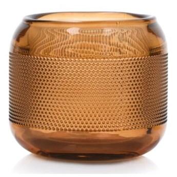 Lampion na tealight świecznik DUKA SPIKAR 9x7.5 cm brązowy szkło