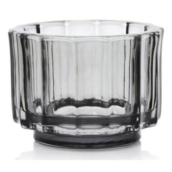 Lampion na tealight świecznik DUKA OPTISK 9x7 cm szary