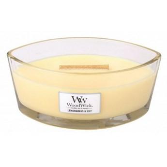 Świeczka elipsa WoodWick Lemongrass & Lily Elipsa 453,6g