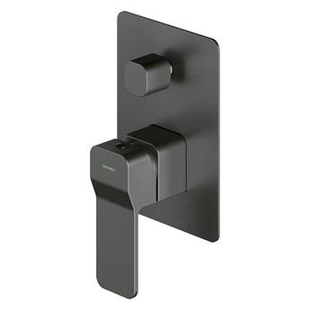 Slide bateria prysznicowo-wannowa podtynkowa grafit SL7735GR