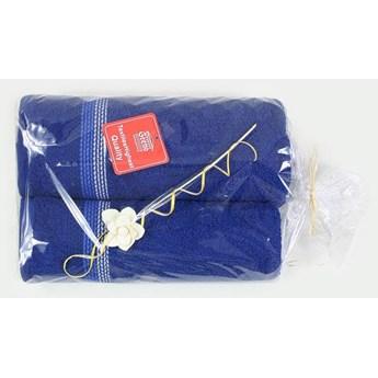 Komplet 2 ręczników na prezent Ombre turkusowy jasny popielaty