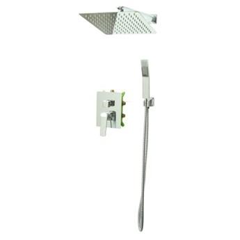 Bateria Natryskowa Prysznicowa VERDO Podtynkowa z Deszczownicą 25 CHROM