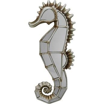 Dekoracja ścienna Seahorse 17x38 cm srebrna postarzana - lustrzana