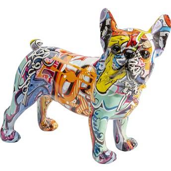 Figurka dekoracyjna Grafitti Dog 24x22 cm kolorowa