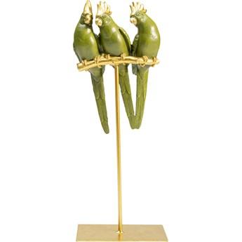 Figurka dekoracyjna Parrot Friends 15x37 cm zielono-złota