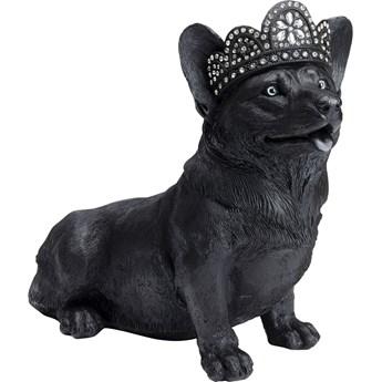Figurka dekoracyjna Royal Sitting Corgi 44x38 cm czarna