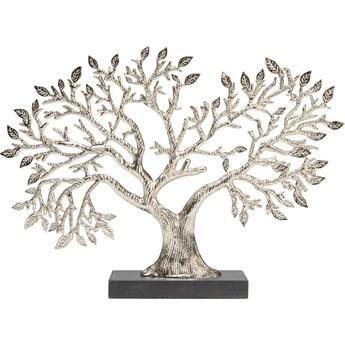 Figurka dekoracyjna Tree Of Life 39x28 cm srebrna