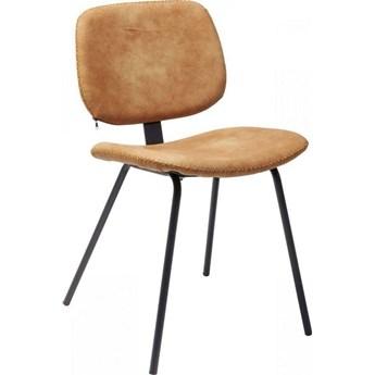 Krzesło Barber 45x80 cm pomarańczowe ekoskóra