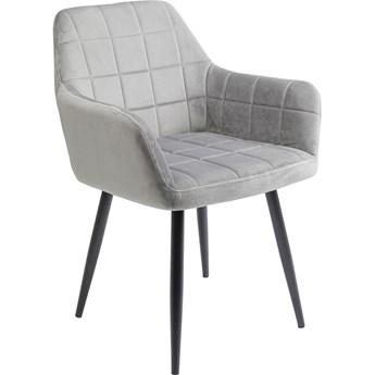 Krzesło z podłokietnikami Kim 58x82 cm szare