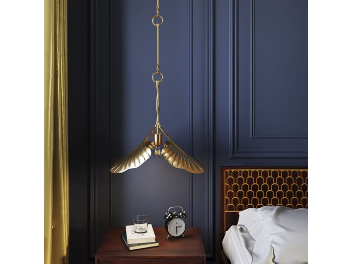 Lampa wisząca Yuva 40x35 cm złota Metal Stal Kolor Złoty