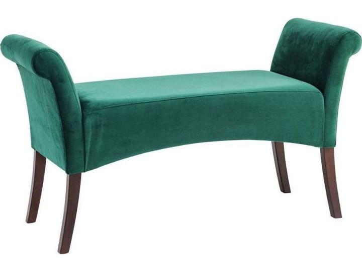 Ławka Motley Velvet 110x61 cm zielona Z podłokietnikiem Pomieszczenie Salon