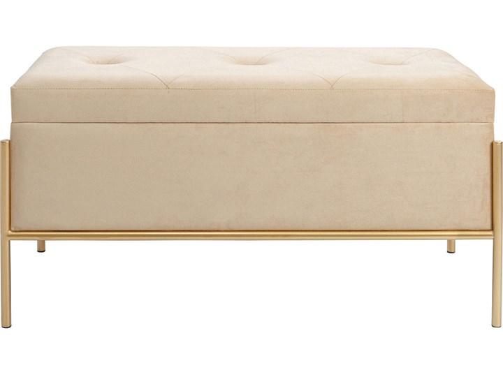 Ławka ze schowkiem Buttons Storage 80x43 cm beżowa Kolor Beżowy Kategoria Ławki do salonu