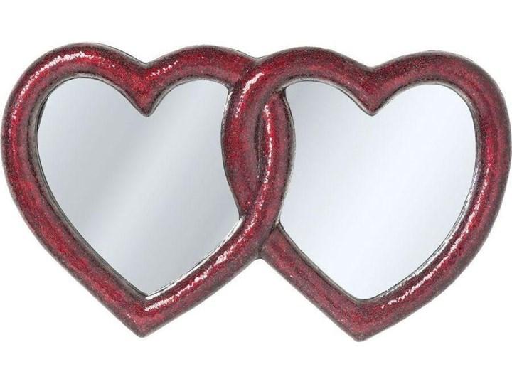 Lustro wiszące Mosaik Double Heart 165x100 cm czerwone Ścienne Pomieszczenie Pokój nastolatka Nieregularne Lustro z ramą Kategoria Lustra