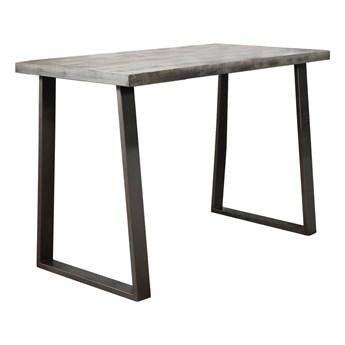 Stół barowy Trapezium 135x70 cm mango szary