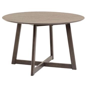 Stół rozkładany Maryse ∅120 cm ciemnobrązowy