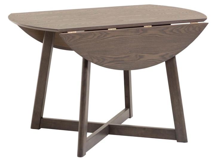 Stół rozkładany Maryse ∅120 cm ciemnobrązowy Płyta laminowana Drewno Kształt blatu Okrągły Rozkładanie Rozkładane