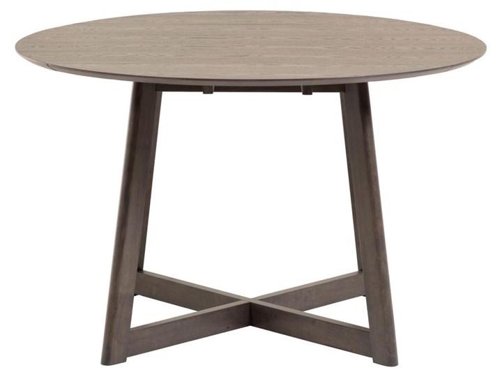 Stół rozkładany Maryse ∅120 cm ciemnobrązowy Płyta laminowana Drewno Styl Industrialny