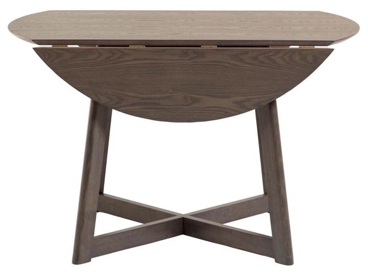 Stół rozkładany Maryse ∅120 cm ciemnobrązowy Płyta laminowana Drewno Pomieszczenie Stoły do jadalni