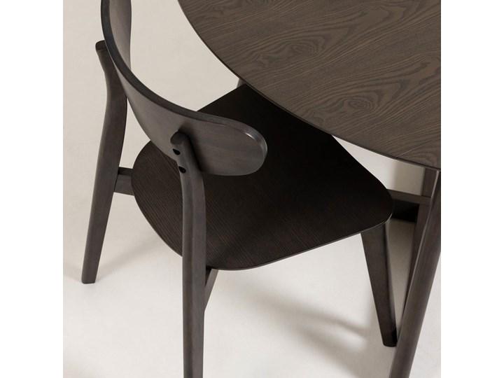 Stół rozkładany Maryse ∅120 cm ciemnobrązowy Płyta laminowana Kategoria Stoły kuchenne Drewno Kształt blatu Okrągły