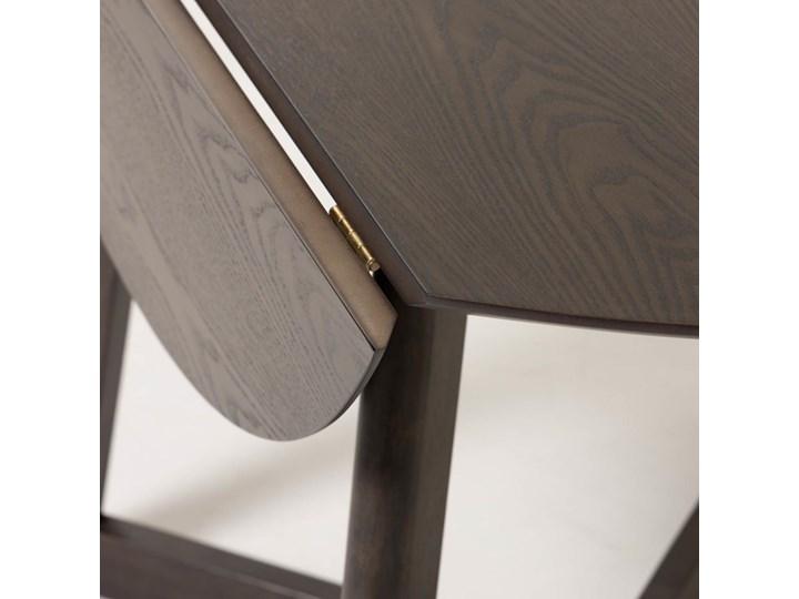 Stół rozkładany Maryse ∅120 cm ciemnobrązowy Drewno Płyta laminowana Styl Industrialny