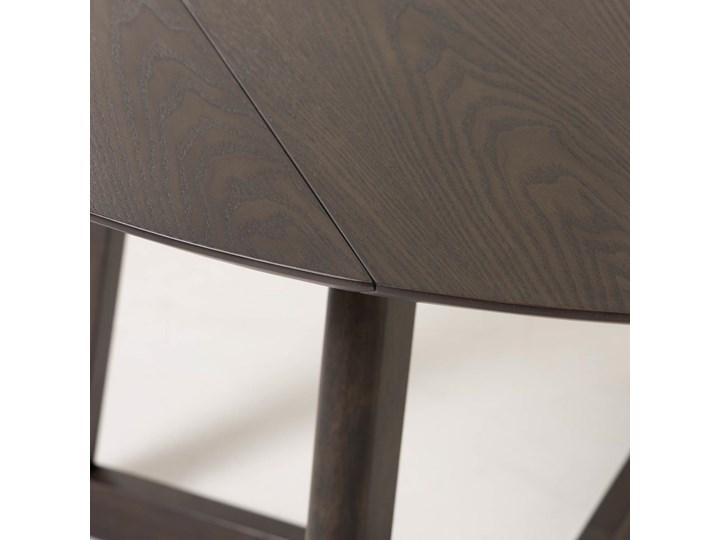 Stół rozkładany Maryse ∅120 cm ciemnobrązowy Płyta laminowana Drewno Kształt blatu Okrągły
