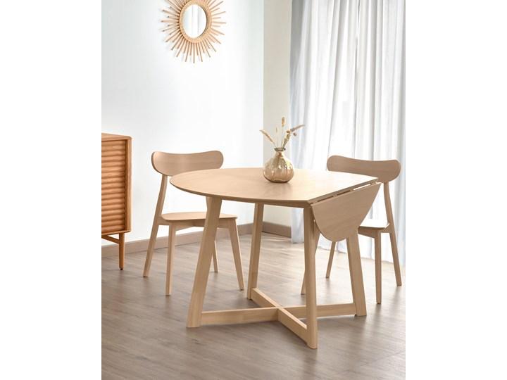 Stół rozkładany Maryse ∅120 cm jasnobrązowy Rozkładanie Rozkładane