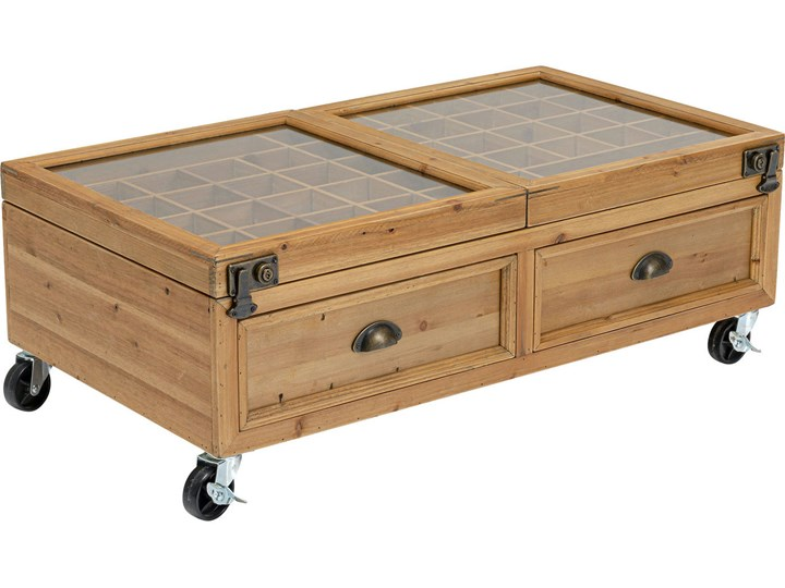 Stolik kawowy Collector Double 101x56 cm naturalny Kategoria Stoliki i ławy Rozmiar blatu 56x110 cm