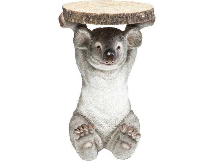 Stolik kawowy Koala Ø33 cm kolorowy Drewno Tworzywo sztuczne Kształt blatu Okrągłe